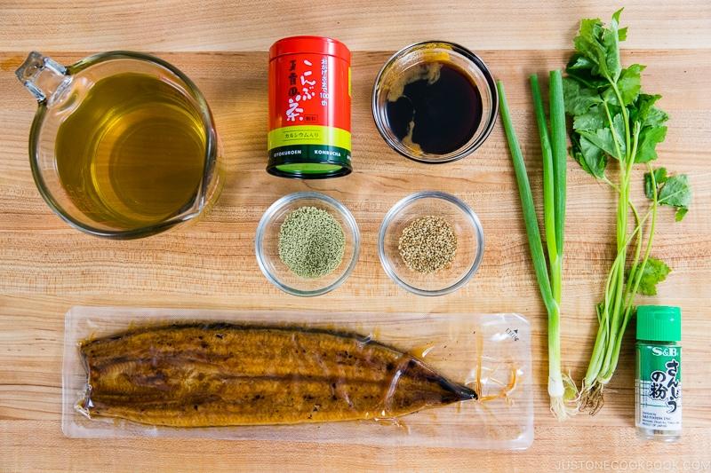 Unagi Chazuke Ingredients