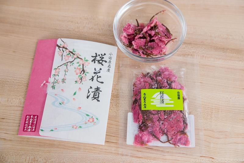 Salt Pickled Cherry Blossom | Easy Japanese Recipes at JustOneCookbook.com