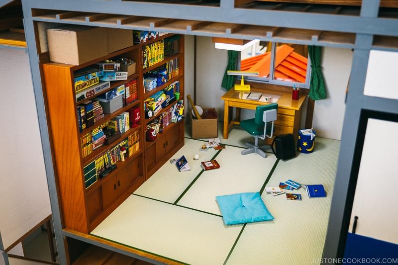Nobita-kun's room inside miniature house - Fujiko F Fujio Museum | www.justonecookbook.com