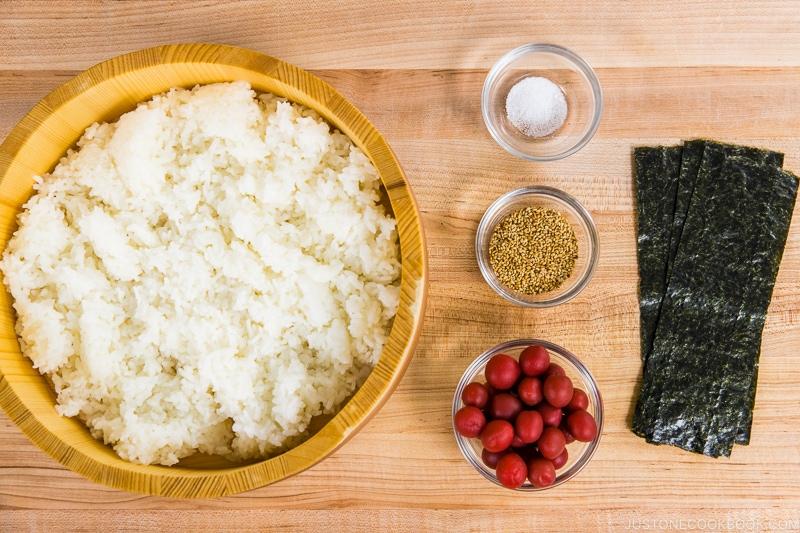 Plum Rice Ball Ingredients
