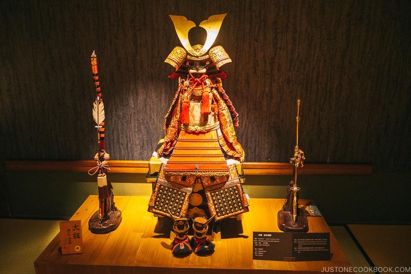 Samurai armor for 5 year old - Samurai Museum Tokyo | www.justonecookbook.com