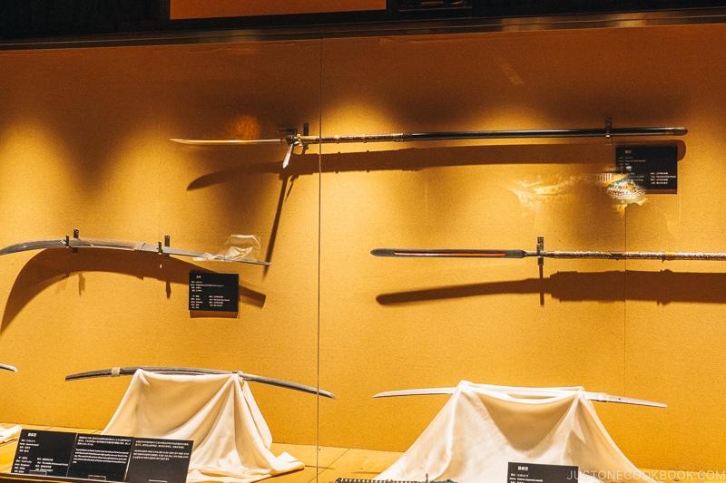 weapons used by samurai - Samurai Museum Tokyo | www.justonecookbook.com