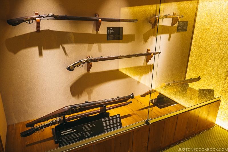 guns used by samurai - Samurai Museum Tokyo | www.justonecookbook.com