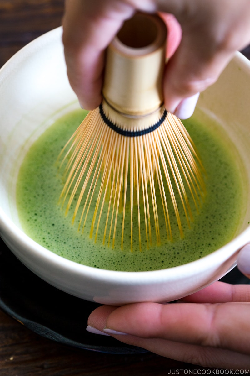 Making Matcha with Chasen.