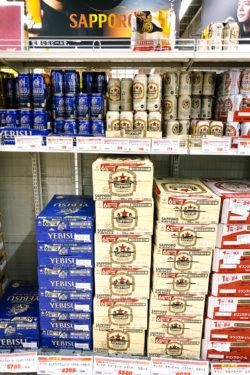 Varieties of beer in a Japanese Supermarket - Japanese Beer Guide (Big Beer + Craft Beer) | www.justonecookbook.com