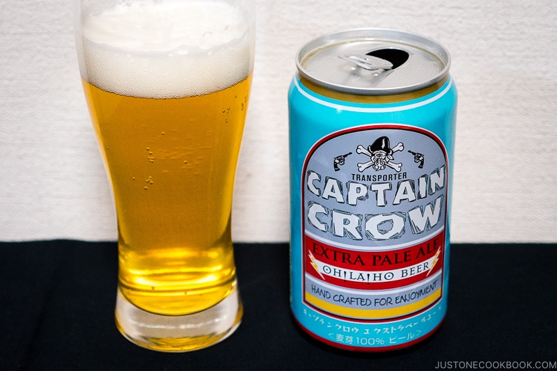 Captain Crow Extra Pale Ale - Japanese Beer Guide (Big Beer + Craft Beer) | www.justonecookbook.com