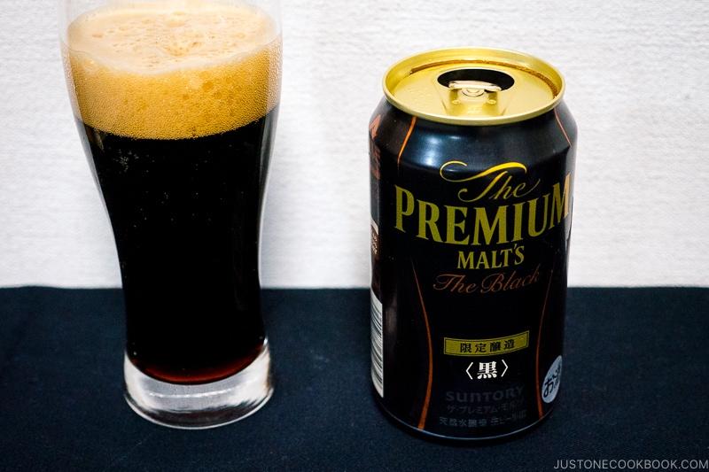 The Premium Malt's The Black - Japanese Beer Guide (Big Beer + Craft Beer) | www.justonecookbook.com
