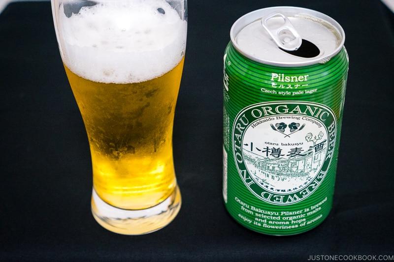 Hokkaido Brewing Company Otaru Bakusyu Pilsner - Japanese Beer Guide (Big Beer + Craft Beer) | www.justonecookbook.com