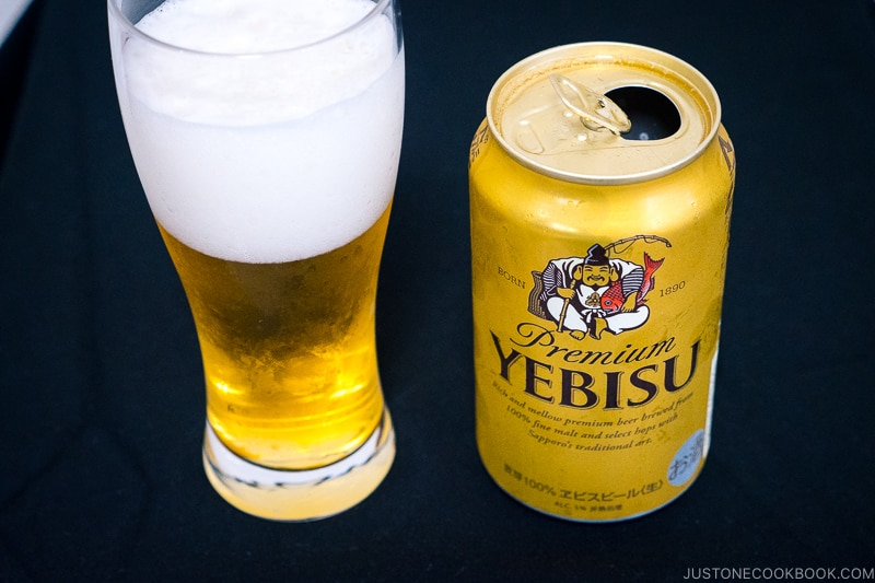 Premium Yebisu - Japanese Beer Guide (Big Beer + Craft Beer) | www.justonecookbook.com