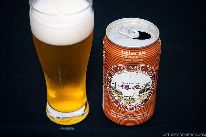 Hokkaido Brewing Company Otaru Bakusyu Amber Ale - Japanese Beer Guide (Big Beer + Craft Beer) | www.justonecookbook.com