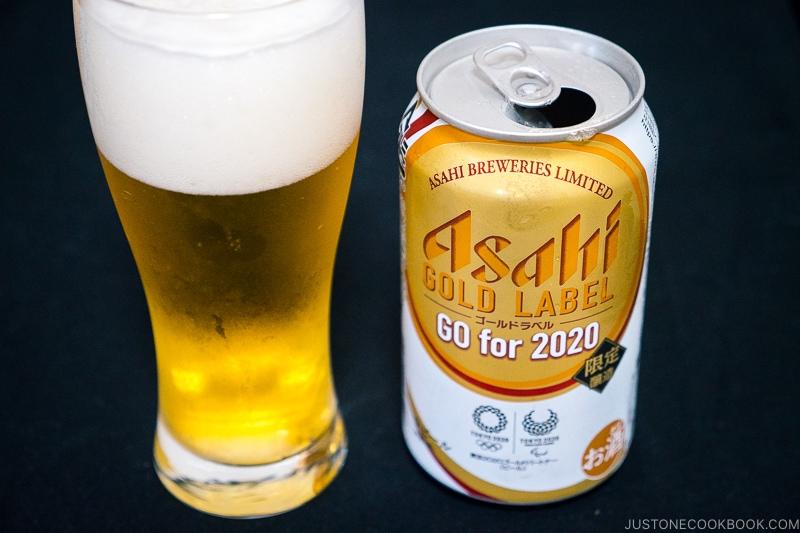 Asahi Gold Label - Japanese Beer Guide (Big Beer + Craft Beer) | www.justonecookbook.com