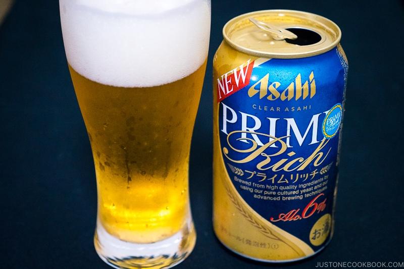 Asahi Prime Rich - Japanese Beer Guide (Big Beer + Craft Beer) | www.justonecookbook.com