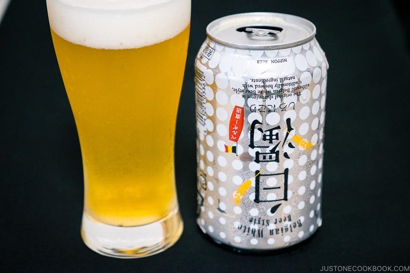 Upside down can of Shiro Nigori - Japanese Beer Guide (Big Beer + Craft Beer) | www.justonecookbook.com