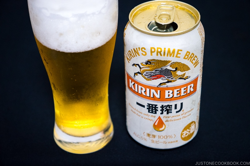 Kirin Beer Ichiban Shibori - Japanese Beer Guide (Big Beer + Craft Beer) | www.justonecookbook.com
