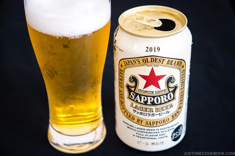 Sapporo Lager Beer - Japanese Beer Guide (Big Beer + Craft Beer) | www.justonecookbook.com