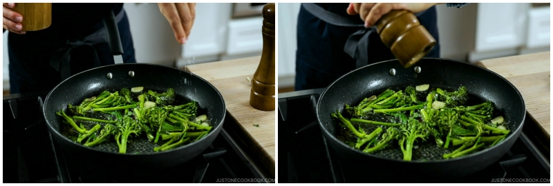 Quick Japanese Pasta with Shrimp and Broccolini 10