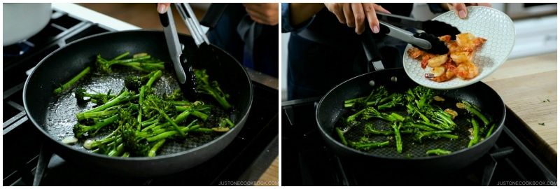 Quick Japanese Pasta with Shrimp and Broccolini 11
