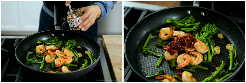 Quick Japanese Pasta with Shrimp and Broccolini 12