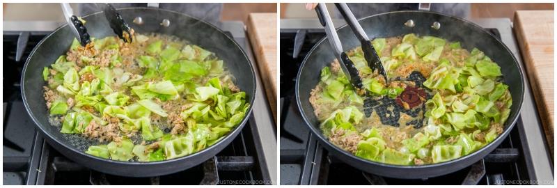 Tuna and Cabbage Japanese Pasta 11
