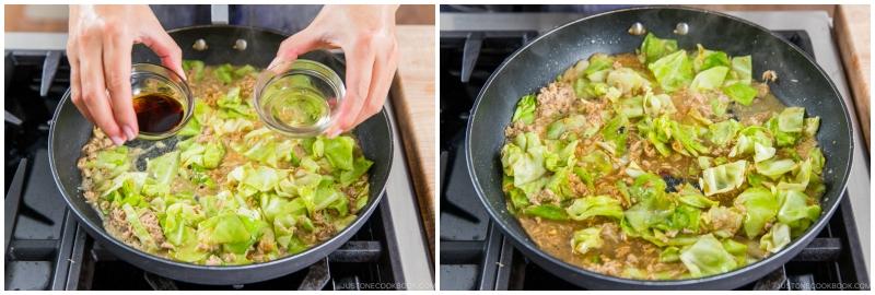 Tuna and Cabbage Japanese Pasta 12