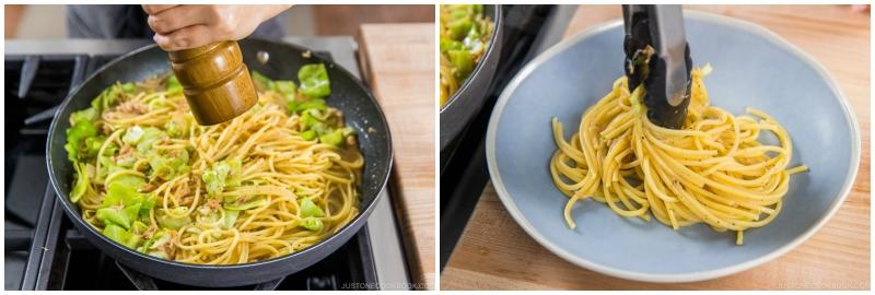 Tuna and Cabbage Japanese Pasta 14