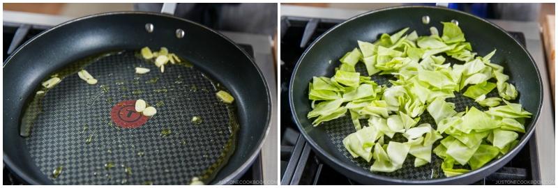 Tuna and Cabbage Japanese Pasta 7
