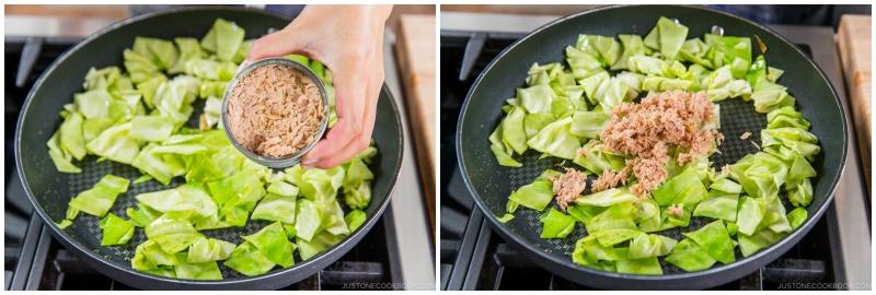 Tuna and Cabbage Japanese Pasta 8