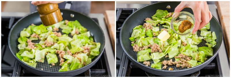 Tuna and Cabbage Japanese Pasta 9