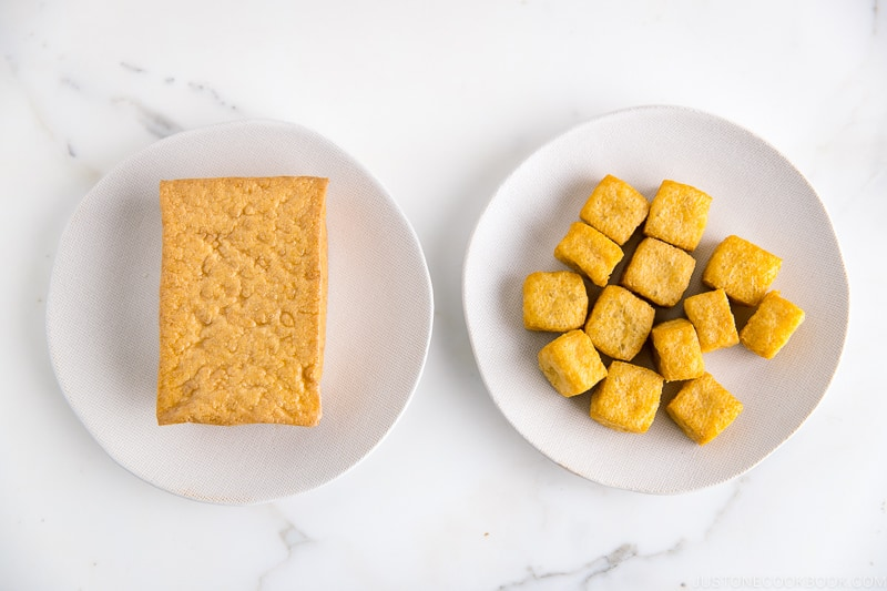 2 kinds of deep-fried Tofu.