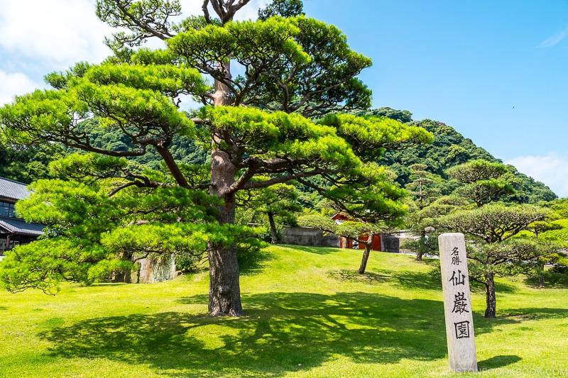 the garden at Sengan-en 仙巌園