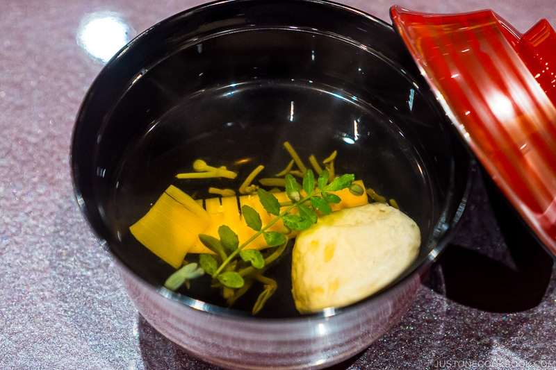 dinner at Shiroyama Hotel Kagoshima