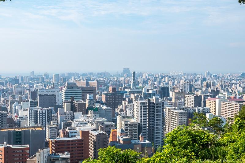 view of Kagoshima city from Shiroyama Observatory