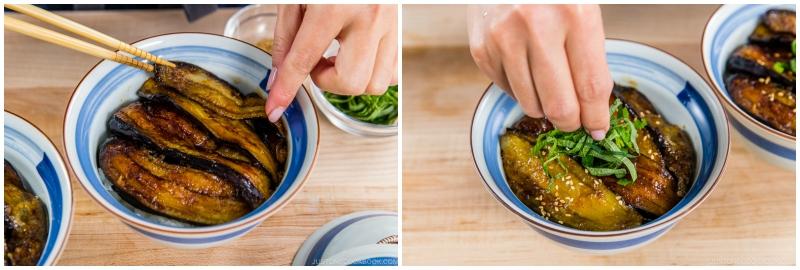 Soy Glazed Eggplant Donburi 12