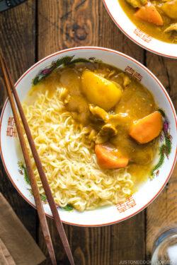 "A ramen bowl containing Curry Ramen -a dish inspired by Netflix ""Midnight Diner: Tokyo Stories"" Season 2."