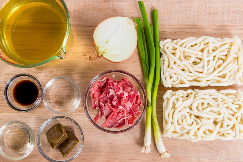 Curry Udon Ingredients