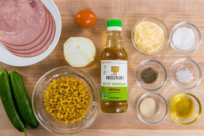 Japanese Macaroni Salad Ingredients