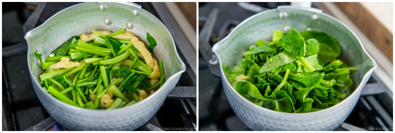 Simmered Fried Tofu and Greens 5