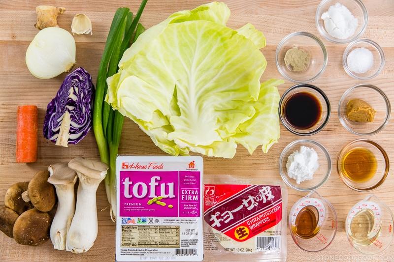 Vegetarian Gyoza Ingredients