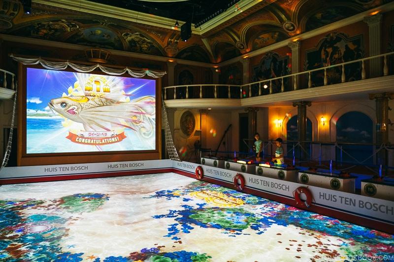 large fishing arcade video game