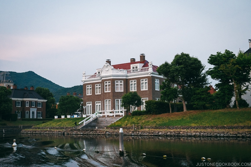 European style house next to canal