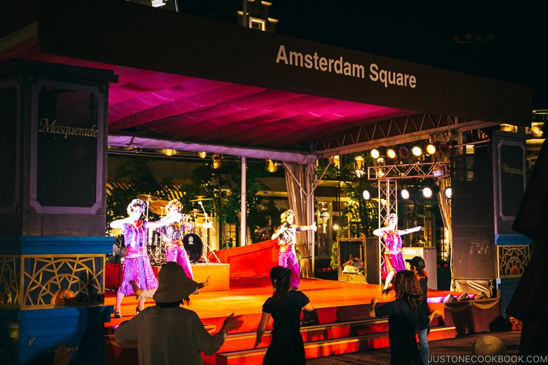 dancers performing on stage at amsterdam square