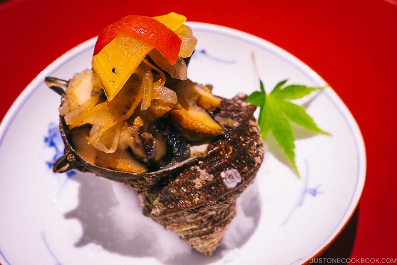 marinated sea snail