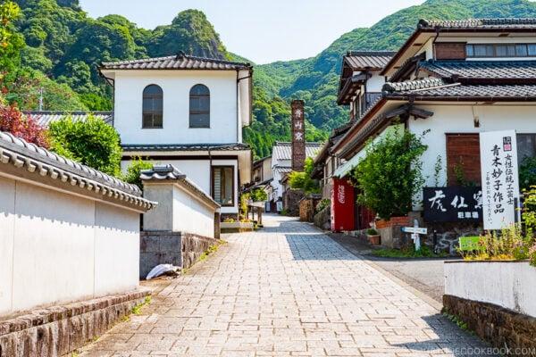 cobblestone street at Okawachiyama Village