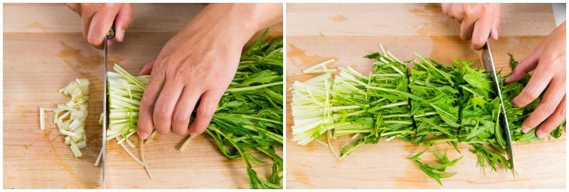 Mizuna Myoga Salad 3