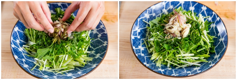 Mizuna Myoga Salad 4