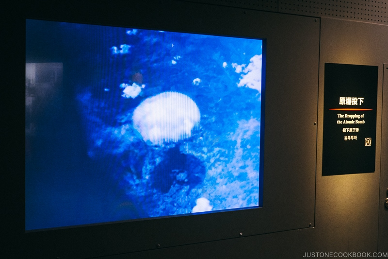 video of atomic bomb being dropped and mushroom cloud after