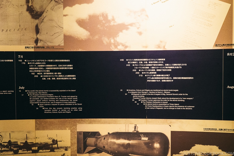 timeline of atomic bomb being dropped in Nagasaki