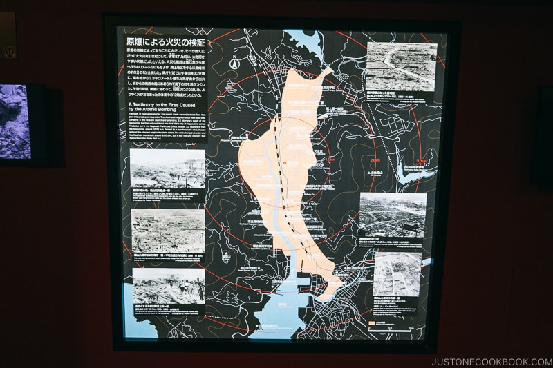 map of Nagasaki showing extent of the damage caused by the fire