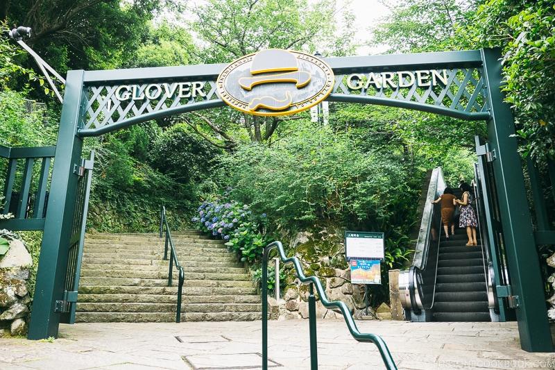 entrance gate at Glover Garden Nagasaki