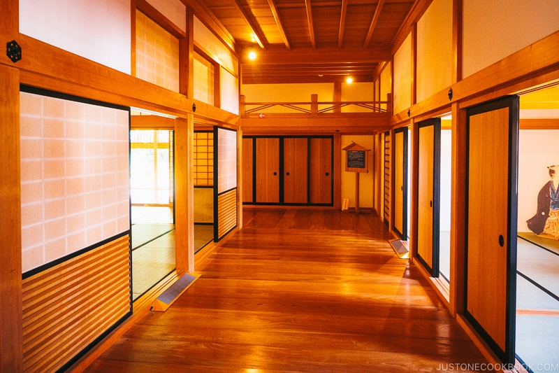 reconstructed Nagasaki Magistrate's Office hallway and rooms